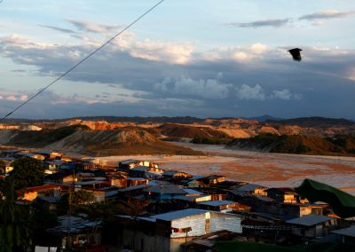 The city of Huepethaue and the effects of gold mining on the environment.